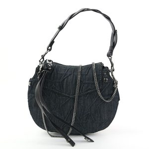 Jimmy Choo Handbag Shoulder Bag ARTIE MINI Black Denim Leather JIMMY CHOO Ladies i0267