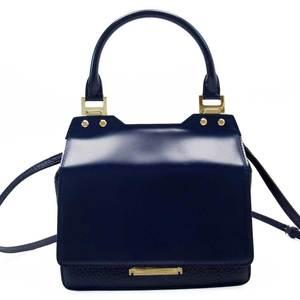 Jimmy Choo JIMMY CHOO handbag navy gold leather h23645a