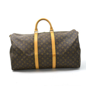 Louis Vuitton Boston Bag Travel Monogram Keypol 55 (Brown) Canvas Women's Men's M41424 1635