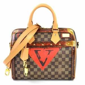 Louis Vuitton Handbag Transformed Damier Speedy Bandolier 25 Dark Brown Canvas Ladies M52249 i0317