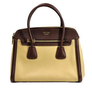 Prada PRADA Bag SABBIA (Beige) CACAO City Calf Saffi Shoulder Ladies BN2602 v30168