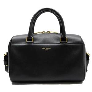Saint Laurent SAINT LAURENT handbag shoulder bag baby duffel black leather h23850a