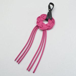 LOEWE Charm Shocking Pink Black Silver Leather Ladies r6969