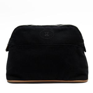 Hermes HERMES Pouch Multi Case Bored Black 100% Cotton Ladies h23494b