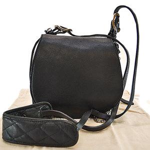 Jimmy Choo JIMMY CHOO Shoulder Bag Black Silver Color Leather Ladies r6116
