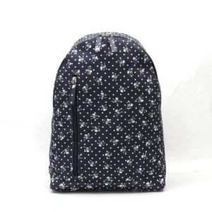 DOLCE & GABBANA bag Skull dot navy canvas leather rucksack ladies men's v40966