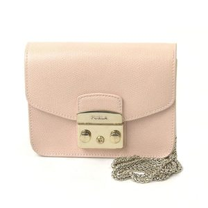 Furla FURLA Pouch Metropolis Light Pink Leather Ladies 2143