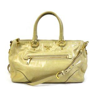 Prada PRADA Handbag ◆ Light yellow leather Standard popularity Ladies 1908