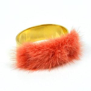Fendi FENDI Bracelet Bangle Gold Fur Ladies 2041