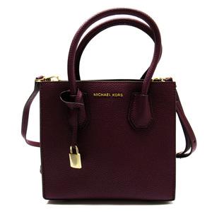 Michael Kors MICHAEL KORS Handbag Wine Red Gold Leather Ladies 2837