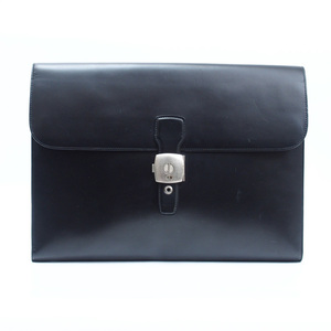 Dunhill DUNHILL bag black calf briefcase men's v37467