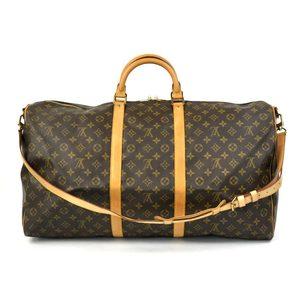 Louis Vuitton Handbag Boston Bag Travel Monogram Keepall Bandolier 60 ◆ (Brown) Canvas Recommended Women's Men's M41412 1606