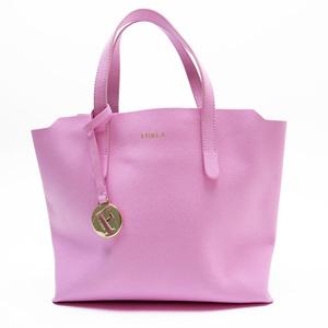 Furla FURLA Handbag Pink Gold Leather Ladies 2944