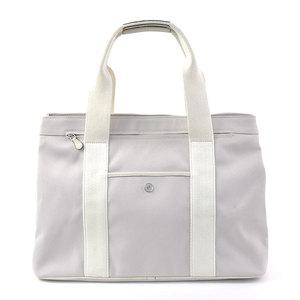 Loewe Handbag White Light Gray Canvas Leather LOEWE Ladies y14051