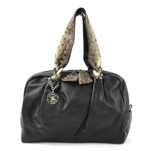 Celine shoulder bag dark brown leather CELINE Ladies y14053