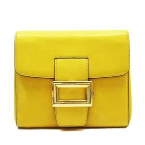 Prada PRADA Clutch Bag Multi Case Yellow Gold Leather 3015