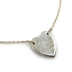 Gucci GUCCI Necklace Heart Silver SV925 Ladies 2221