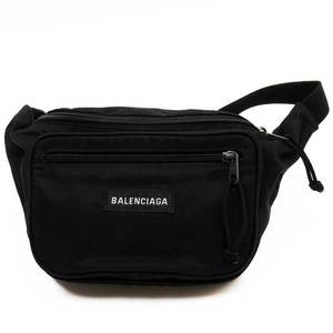 Balenciaga body bag waist pouch black nylon women's 3212a
