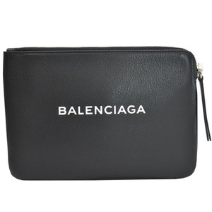Balenciaga BALENCIAGA Bag Black White Leather Clutch Multi Case Ladies r7791c
