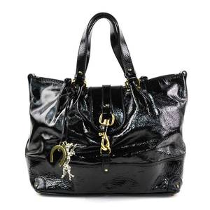 Chloé Chloe Handbag Black PVC Leather Womens y14041