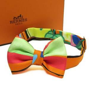 Hermes HERMES Bow Tie Black Multi Ladies 3222e