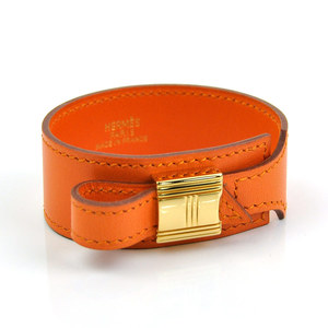 Hermes Bracelet Artemis Orange Leather HERMES Ladies y13993