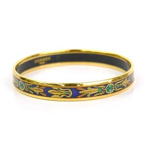 Hermes bracelet bangle email gold blue HERMES Ladies y14177d
