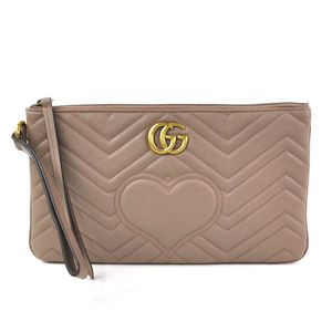 Gucci Clutch Bag Second GG Marmont Leather GUCCI Ladies 443439 y14147c