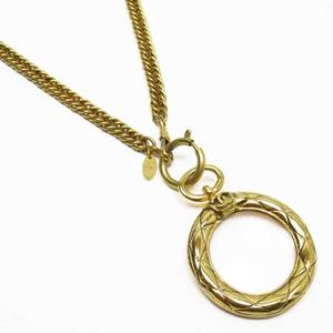 Chanel CHANEL Necklace with loupe Cocomark Gold 3089