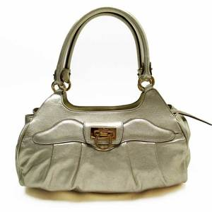 Salvatore Ferragamo Handbag Gantini Gold Leather Ladies 3031