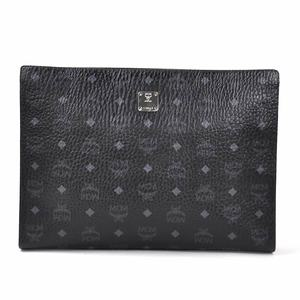 Mc clutch bag logogram black leather MCM men's y14005