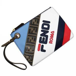 Fendi FENDI Second Bag Clutch Mania White Blue Red Brown Black Navy Leather Ladies 3164a