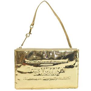 Louis Vuitton Pouch Gold Patent Leather Accessory Multi Case Ladies r7795c