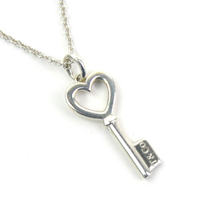 Tiffany Necklace Heart Key Silver 925 & Co. Ladies y14227b