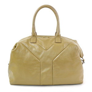Yves Saint Laurent Shoulder Bag Light Brown Patent Leather Ladies y14091a