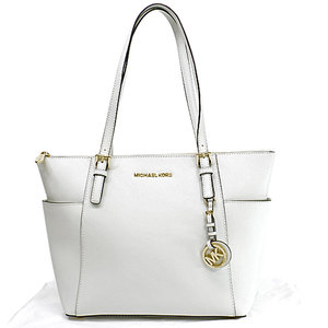 Michael Kors MICHAEL KORS Bag White Gold Leather Shoulder Ladies r7775d
