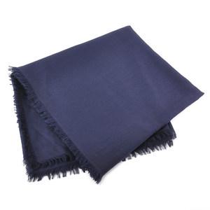 Gucci stall shawl GG pattern navy wool 70% silk 30% GUCCI Ladies y14172e
