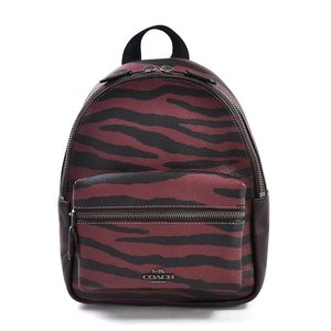 Coach COACH mini rucksack backpack bordeaux black leather ladies y14015