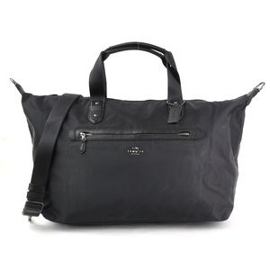 Coach Boston Bag NYLN WEEKENDER Black Nylon Leather COACH Ladies Men J1747-F22347 y14244a