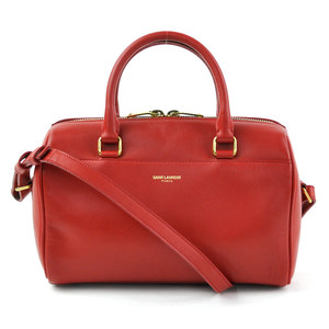 Saint Laurent handbag baby duffel red leather SAINT LAURENT Ladies y14143c
