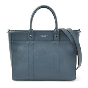 GLOBE-TROTTER Glove trotter handbag shoulder bag blue gray leather GLOBE TROTTER Ladies y14193c