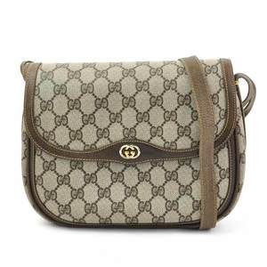 Gucci GG Plus Brown PVC Leather GUCCI Women's y14219