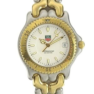 TAG HEUER Sel Professional 200M Gold Plated Steel Watch WG1122