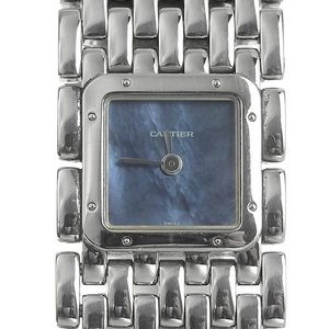 CARTIER Ruban Blue MOP Dial Steel Quartz Ladies Watch W61002T9