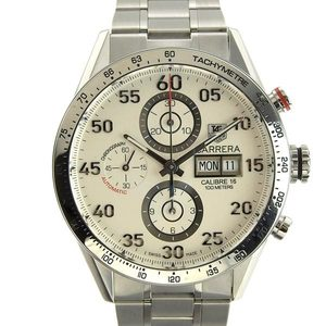 TAG HEUER Carrera Calibre 16 Chronograph Steel Watch CV2A11