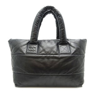 Chanel Coco Cocoon Tote GM Ladies Bag Lambskin Black Bordeaux DH56842