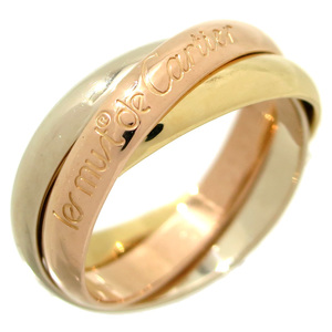 Cartier Trinity # 51 Ladies Ring & 750 Yellow Gold No. 11 DH56799