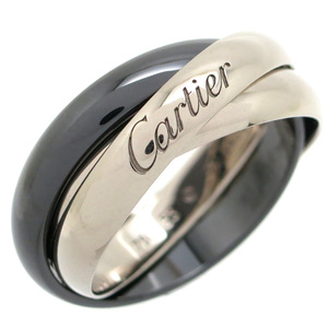 Cartier Trinity Classic Ceramic # 53 Ladies Ring & B4095600 750 White Gold No.13 Black DH56803