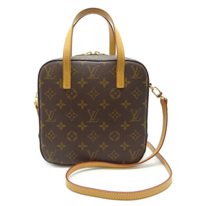 Louis Vuitton Spontini Ladies Handbag M47500 Monogram Canvas Brown DH56818