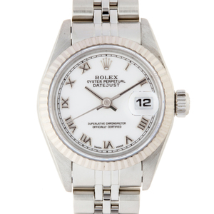 Rolex Datejust A Number Ladies Watch 69174 Stainless Steel White Roman Dial DH56691
